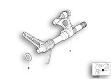 Goto diagram: BMW Classic Motorbike Model R 1100 GS 94 (0404,0409)( USA ), Category 23.31 5-speed gearbox shifting shaft :: Diagram: 23_0758