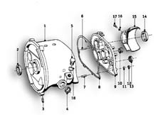 Goto diagram: BMW Classic Motorrad Modell R26( ECE ), Category 23.05 Gearbox housing/mounting parts/gaskets :: Diagram: 23_0835
