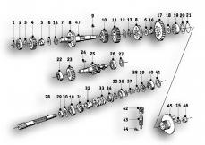 Goto diagram: BMW Classic Motorrad Modell R26( ECE ), Category 23.05 4-speed gearbox :: Diagram: 23_0836