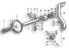 Goto diagram: BMW Classic Motorbike Model R51/2( ECE ), Category 23.05 4-speed gearbox :: Diagram: 23_0844