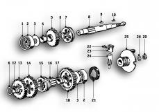 Goto diagram: BMW Classic Motorbike Model R51/2( ECE ), Category 23.05 4-speed gearbox :: Diagram: 23_0845