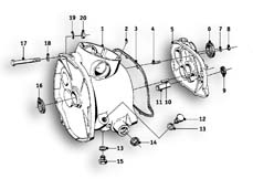 Goto diagram: BMW Classic Motorbike Model R69 S( ECE ), Category 23.05 Gearbox :: Diagram: 23_0858