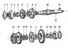 Goto diagram: BMW Classic Motorbike Model R69 S( ECE ), Category 23.05 Gearbox :: Diagram: 23_0859
