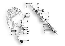 Goto diagram: BMW Classic Motorbike Model R69 S( ECE ), Category 23.05 Gearbox :: Diagram: 23_0863