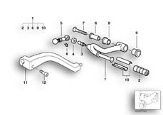 Goto diagram: BMW Classic Motorbike Model R 1150 GS Adv. 01 (0441,0492)( USA ), Category 23.41 External gearshift parts/Shift lever :: Diagram: 23_0868