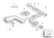 Goto diagram: BMW Classic Motorbike Model R 1150 RT 00 (0419,0499)( USA ), Category 23.41 Shift lever :: Diagram: 23_0901