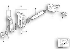 Goto diagram: BMW Classic Motorbike Model R 1200 Montauk 03 (0309,0319)( USA ), Category 23.31 6-speed gearbox shift components :: Diagram: 23_0922