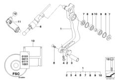 Goto diagram: BMW Classic Motorrad Modell HP2 Sport (0458, 0468)( ECE ), Category 23.41 External gearshift parts/Shift lever :: Diagram: 23_1071