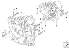 Goto diagram: BMW Classic Motorbike Model R nineT Racer (0J21, 0J23)( USA ), Category 23.11 Gearbox housing :: Diagram: 23_1114