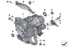 Goto diagram: BMW Classic Motorrad Modell R nineT Pure (0J11, 0J13)( USA ), Category 23.05 Manual gearbox :: Diagram: 23_1115