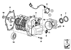 Goto diagram: BMW Classic Motorrad Modell K 1300 GT (0538,0539)( USA ), Category 23.05 Manual gearbox :: Diagram: 23_1160
