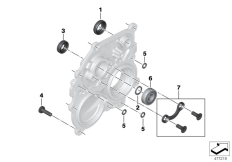 Goto diagram: BMW Classic Motorbike Model K 1600 Bagger (0F51, 0F53)( USA ), Category 23.12 Bearing in housing, sealing rings :: Diagram: 23_1192