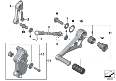 Goto diagram: BMW Classic Motorrad Modell R 1200 GS 17 (0A51, 0A61)( USA ), Category 23.41 Outer gearshift parts :: Diagram: 23_1194