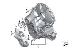 Goto diagram: BMW Classic Motorrad Modell R 1200 RS (0A05, 0A15)( USA ), Category 23.11 Transmission cover :: Diagram: 23_1214