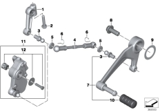 Goto diagram: BMW Classic Motorrad Modell R 1200 RT (0A03, 0A13)( USA ), Category 23.41 Outer gearshift parts :: Diagram: 23_1216