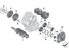 Goto diagram: BMW Classic Motorbike Model K 1600 GTL Excl. (0603, 0613)( USA ), Category 23.05 Individual transmission parts :: Diagram: 23_1221