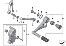 Goto diagram: BMW Classic Motorbike Model R 1200 R (0A04, 0A14)( USA ), Category 23.41 Outer gearshift parts :: Diagram: 23_1229