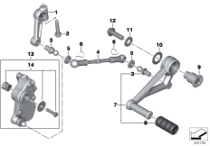 Goto diagram: BMW Classic Motorrad Modell R 1200 RS (0A05, 0A15)( USA ), Category 23.41 Outer gearshift parts :: Diagram: 23_1238