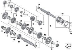 Goto diagram: BMW Classic Motorbike Model S 1000 R 17 (0D72)( BRA ), Category 23.21 Transmission shafts :: Diagram: 23_1245