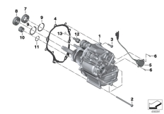 Goto diagram: BMW Classic Motorbike Model K 1600 GTL Excl. (0603, 0613)( USA ), Category 23.05 Manual gearbox :: Diagram: 23_1303