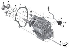 Goto diagram: BMW Classic Motorbike Model K 1600 Bagger (0F51, 0F53)( USA ), Category 23.05 Manual gearbox :: Diagram: 23_1321