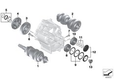 Goto diagram: BMW Classic Motorbike Model K 1600 GTL 17 (0F02, 0F12)( USA ), Category 23.21 Individual transmission parts :: Diagram: 23_1322