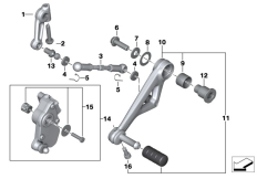 Goto diagram: BMW Classic Motorbike Model R 1200 GS Adve. (0A42)( BRA ), Category 23.41 Outer gearshift parts :: Diagram: 23_1342