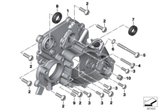 Goto diagram: BMW Classic Motorbike Model K 1600 GTL 17 (0F02, 0F12)( USA ), Category 23.11 Differential cover for reverser :: Diagram: 23_1347