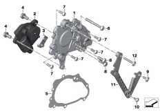Goto diagram: BMW Classic Motorbike Model K 1600 Bagger (0F51, 0F53)( USA ), Category 23.11 Gearshift cover for reverser :: Diagram: 23_1348