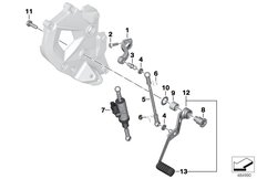 Goto diagram: BMW Classic Motorbike Model F 850 GS (0B29)( BRA ), Category 23.41 Outer gearshift parts :: Diagram: 23_1353