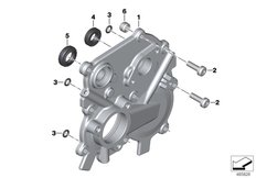 Goto diagram: BMW Classic Motorbike Model K 1600 Bagger (0F51, 0F53)( USA ), Category 23.11 Shift control housing cover :: Diagram: 23_1354