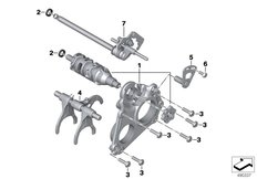 Goto diagram: BMW Classic Motorrad Modell F 750 GS (0B28)( BRA ), Category 23.31 Inner gearshift parts :: Diagram: 23_1366