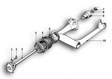 Goto diagram: BMW Classic Motorbike Model R69 S( ECE ), Category 26.05 Rear trailing arm :: Diagram: 26_0173