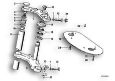 Goto diagram: BMW Classic Motorbike Model R65( USA ), Category 31.10 Fork bridge :: Diagram: 31_0296