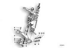 Goto diagram: BMW Classic Motorbike Model R75/5( ECE ), Category 31.10 Lower fork cross brace :: Diagram: 31_0305