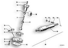 Goto diagram: BMW Classic Motorbike Model R 100 RS( ECE ), Category 31.10 STEERING DAMPER :: Diagram: 31_0311
