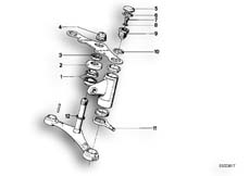 Goto diagram: BMW Classic Motorbike Model R 75 /7( ECE ), Category 31.10 Fork bridge, mounting parts :: Diagram: 31_0312