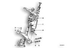 Goto diagram: BMW Classic Motorbike Model R 75 /7( ECE ), Category 31.10 Lower fork cross brace :: Diagram: 31_0313