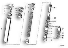 Goto diagram: BMW Classic Motorrad Modell R 80 G/S( ECE ), Category 31.10 Riser pipe/Absorber :: Diagram: 31_0317