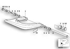 Goto diagram: BMW Classic Motorbike Model R 1100 GS 94 (0404,0409)( USA ), Category 31.42 Trailing arm :: Diagram: 31_0336