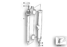 Goto diagram: BMW Classic Motorbike Model R 1100 GS 94 (0404,0409)( USA ), Category 31.42 STANCHION :: Diagram: 31_0348