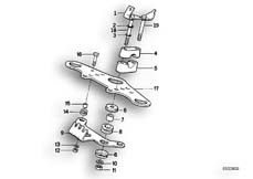 Goto diagram: BMW Classic Motorbike Model R 80 RT( USA ), Category 31.10 Upper fork cross brace :: Diagram: 31_0363