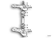 Goto diagram: BMW Classic Motorbike Model K 75 84 (0561)( ECE ), Category 31.10 Fork bridge, bottom / top :: Diagram: 31_0367