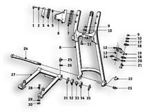 Goto diagram: BMW Classic Motorrad Modell R26( ECE ), Category 31.20 Front swinging fork :: Diagram: 31_0468