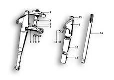 Goto diagram: BMW Classic Motorbike Model R51/2( ECE ), Category 31.05 TELESCOPE FORK :: Diagram: 31_0478