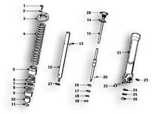 Goto diagram: BMW Classic Motorbike Model R51/2( ECE ), Category 31.20 Shock absorber, front :: Diagram: 31_0479