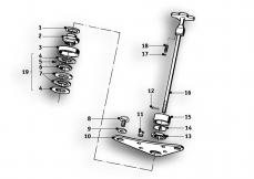 Goto diagram: BMW Classic Motorrad Modell R69 S( ECE ), Category 31.10 Fork suspension :: Diagram: 31_0504