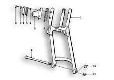 Goto diagram: BMW Classic Motorbike Model R69 S( ECE ), Category 31.10 Front swinging fork :: Diagram: 31_0507