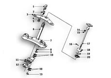 Goto diagram: BMW Classic Motorbike Model R69 S( USA ), Category 31.10 Fork suspension :: Diagram: 31_0510