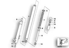 Goto diagram: BMW Classic Motorbike Model G 650 GS 09 (0178,0179)( ECE ), Category 31.42 Stanchion / damper / spring :: Diagram: 31_0540